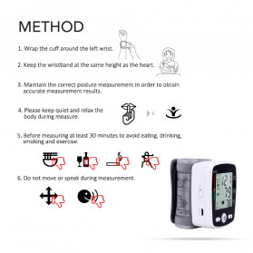 OLIECO Pengukur Tekanan Darah Electronic Sphygmomanometer with Voice - CK-W355 - Black - 5