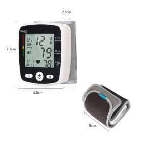 OLIECO Pengukur Tekanan Darah Electronic Sphygmomanometer with Voice - CK-W355 - Black - 9
