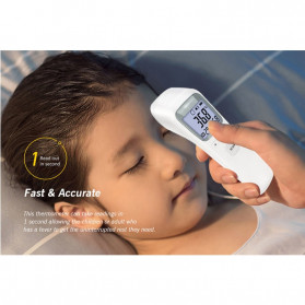 FOCUSNORM Termometer Badan Infrared LCD Display - 3461 - White