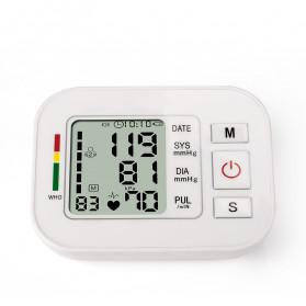 ZOSS Pengukur Tekanan Darah Electronic Sphygmomanometer Heart Rate with Voice - CK-W134 - White - 3