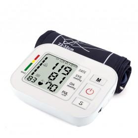 ZOSS Pengukur Tekanan Darah Electronic Sphygmomanometer Heart Rate with Voice - CK-W134 - White - 4