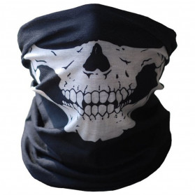 Skuls Slayer Penutup Wajah Buff Outdoor Bike Scarf Model Tengkorak - K13 - Black White