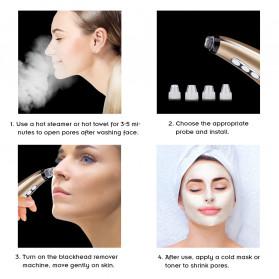 Hailicare Vacuum Pembersih Komedo Acne Deep Cleaner Beauty Clean Skin Care - 6260 - Golden - 5