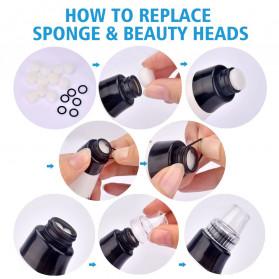Hailicare Vacuum Suction Komedo Wajah Skin Face Care Blackhead Pore Cleaner 5 Heads - 3107 - White - 5