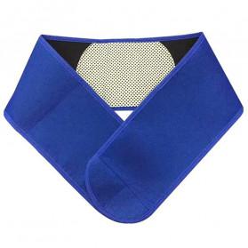 JINGBA Lumbar Support Waist Back Pain Brace Heating Magnetic Tourmaline Theraphy - SHWP - Blue
