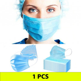 YAJIE Masker Bedah Filter Udara Anti Polusi Virus Corona 3-Ply 1 PCS - Blue