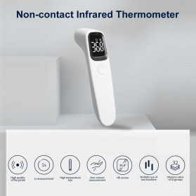 BBLOVE Thermometer Suhu Tubuh Digital Infrared Non Contact LED - AET-R1D1 - White - 6