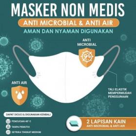 Sritex Masker Kain Anti Polusi Rewashable 1 PCS - White - 2
