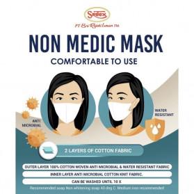 Sritex Masker Kain Anti Polusi Rewashable 1 PCS - White - 3