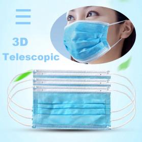 YAJIE Masker Bedah Filter Udara Anti Polusi Virus Corona 3-Ply 50 PCS - Blue - 6