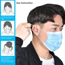 YAJIE Masker Bedah Filter Udara Anti Polusi Virus Corona 3-Ply 50 PCS - Blue - 7