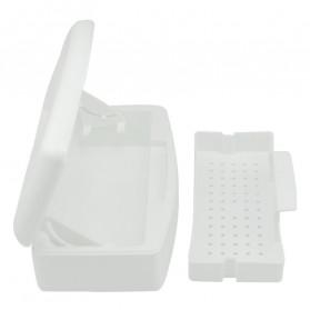 COSCELIA Kotak Sterilizer Alcohol Disinfection Box Professional Nail Art Tools - C4 - White - 2