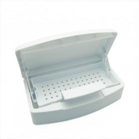 COSCELIA Kotak Sterilizer Alcohol Disinfection Box Professional Nail Art Tools - C4 - White - 4
