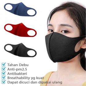 YAJIE Masker Scuba Kain Anti Polusi Rewashable 1 PCS - Black