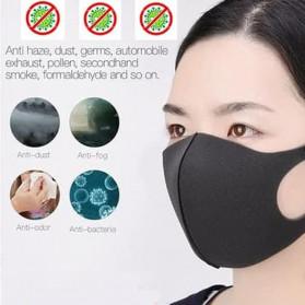 YAJIE Masker Scuba Kain Anti Polusi Rewashable 1 PCS - Black - 3