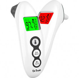Dr Trust Handy Digital Forehead and Ear Thermometer Infrared LCD - 607 - White