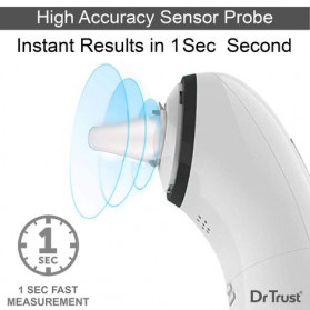 Dr Trust Handy Digital Forehead and Ear Thermometer Infrared LCD - 607 - White - 3