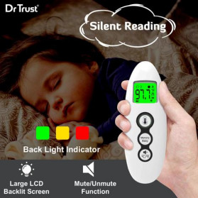 Dr Trust Handy Digital Forehead and Ear Thermometer Infrared LCD - 607 - White - 4