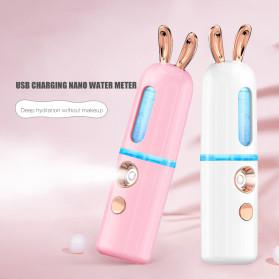 CkeyiN Steamer Muka Portable Mini Nano Spray Machine Beauty Skin Humidifier Model Kelinci - MR449P - White - 2