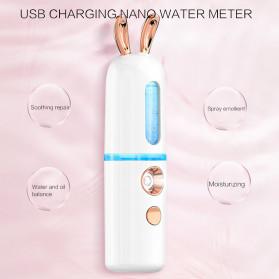 CkeyiN Steamer Muka Portable Mini Nano Spray Machine Beauty Skin Humidifier Model Kelinci - MR449P - White - 4