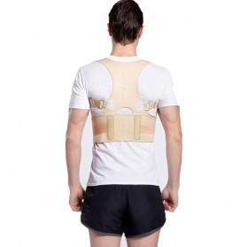 Genkent Tali Body Harness Korektor Postur Punggung Lumbar Support Size M - LSS-15 - Natural