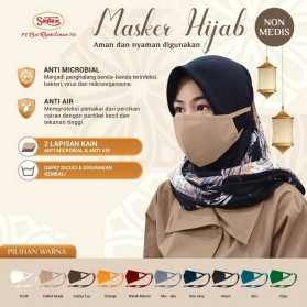 Sritex Masker Hijab Headloop Kain Anti Polusi Rewashable 1 PCS - Black