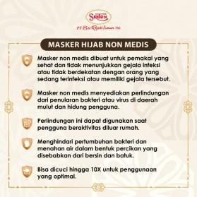 Sritex Masker Hijab Headloop Kain Anti Polusi Rewashable 1 PCS - Black - 2