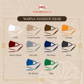 Sritex Masker Hijab Headloop Kain Anti Polusi Rewashable 1 PCS - Black - 4
