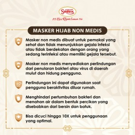 Sritex Masker Hijab Headloop Kain Anti Polusi Rewashable 1 PCS - White - 2