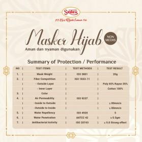 Sritex Masker Hijab Headloop Kain Anti Polusi Rewashable 1 PCS - White - 3