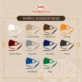Sritex Masker Hijab Headloop Kain Anti Polusi Rewashable 1 PCS - White - 4