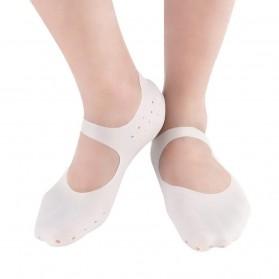 Soumit Kaos Kaki Sepatu Shock Absorb Silicone Gel Anti Slip Insoles Size M 2 PCS - MJ004 - Transparent