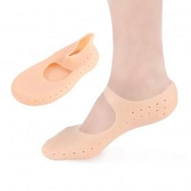 Soumit Kaos Kaki Sepatu Shock Absorb Silicone Gel Anti Slip Insoles Size M 2 PCS - MJ004 - Transparent - 2
