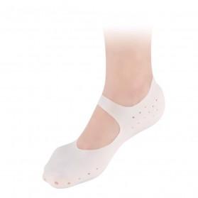 Soumit Kaos Kaki Sepatu Shock Absorb Silicone Gel Anti Slip Insoles Size M 2 PCS - MJ004 - Transparent - 4