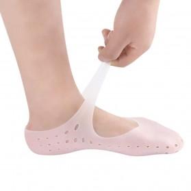Soumit Kaos Kaki Sepatu Shock Absorb Silicone Gel Anti Slip Insoles Size M 2 PCS - MJ004 - Transparent - 6
