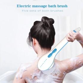 SPIN SPA Alat Pijat Mandi 5 in 1 Electric Shower Bath Brush Scrub - GZ04 - White - 7