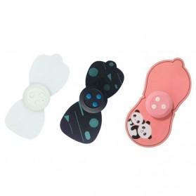 PASTSKY Alat Pijat Cervical Massage Stimulator Stickers Rechargeable - SC-040 - Pink - 5