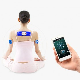 PASTSKY Alat Pijat Therapy Massage Stimulator Stickers Bluetooth Control - SC-040 - Blue