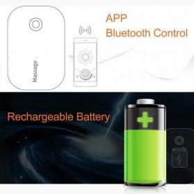 PASTSKY Alat Pijat Therapy Massage Stimulator Stickers Bluetooth Control - SC-040 - Blue - 5