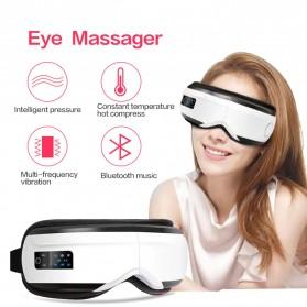 Beurha Alat Pijat Mata Elektrik Eye Massager Rechargeable + Bluetooth Music - HQ-366 - White