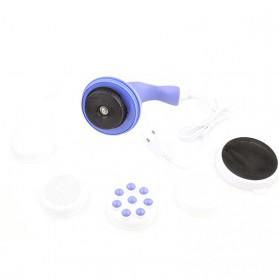 RUOKEY Alat Pijat Elektrik Pundak Punggung Tangan Spin Head Massager - BT075 - Blue