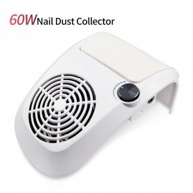 JUAWA Vacuum Cleaner Kuku Nail Dust Suction Cleaner Manicure Machine 60W - 858-9 - White