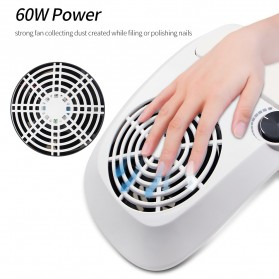 JUAWA Vacuum Cleaner Kuku Nail Dust Suction Cleaner Manicure Machine 60W - 858-9 - White - 2
