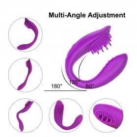HIWUP Vibrator Alat Pijat Elektrik Multifungsi Wireless U Shape - HB187 - Purple - 2