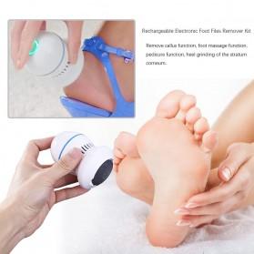 Alloet Alat Perawatan Telapak Kaki Pedicure Foot Elektrik Charger PG21 - White