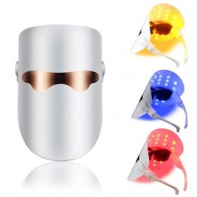 Little Dolphin Masker Perawatan Wajah LED 3 Colors Light Acne Removal Skin Care - LD300 - White