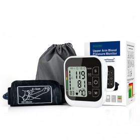 JZIKI Pengukur Tekanan Darah Electronic Sphygmomanometer with Voice - ZK-B877 - Black