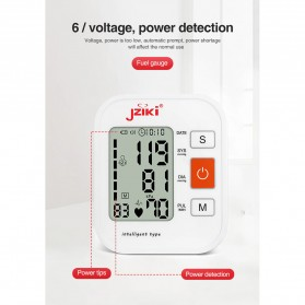 JZIKI Pengukur Tekanan Darah Electronic Sphygmomanometer with Voice - ZK-B877 - Black - 10