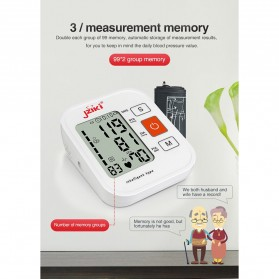 JZIKI Pengukur Tekanan Darah Electronic Sphygmomanometer with Voice - ZK-B877 - Black - 7