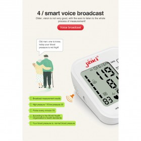JZIKI Pengukur Tekanan Darah Electronic Sphygmomanometer with Voice - ZK-B877 - Black - 8